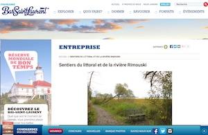 Sentiers d'interprétation du littoral et de la rivière Rimouski - Bas-Saint-Laurent, Rimouski