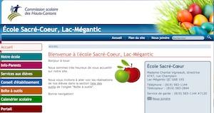 École Sacré-Cœur - Estrie / Canton de l'est, Lac-Mégantic