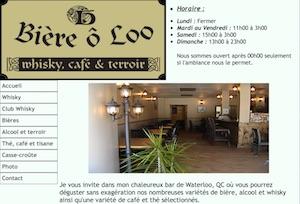 Bière O Loo - Estrie / Canton de l'est, Waterloo