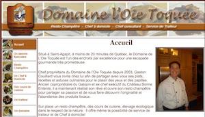 Domaine de L'Oie Toquée - Chaudière-Appalaches, Saint-Agapit (Lotbinière)