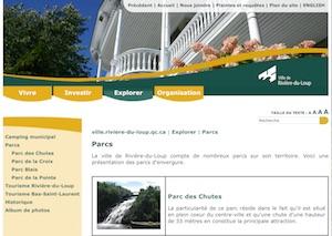 Parc des chutes - Bas-Saint-Laurent, Rivière-du-Loup