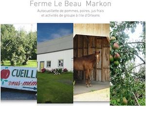 Ferme Le Beau Markon - Capitale-Nationale, Sainte-Famille-de-l'Île-d'Orléans