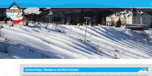 Glissade sur Tube - Aventures Neige Laurentides - Laurentides, Mont-Tremblant