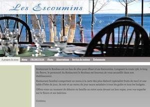 Restaurant Le Bouleau - Côte-Nord / Manicouagan, Les Escoumins