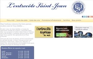 Restaurant L'Entrecôte Saint-Jean - Capitale-Nationale, Ville de Québec (V) (La Cité-Limoilou)