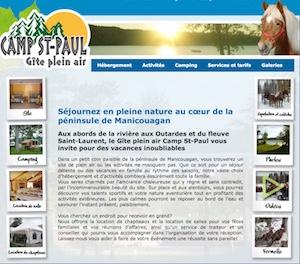 Gîte plein air Camp St-Paul - Côte-Nord / Manicouagan, Pointe-aux-Outardes