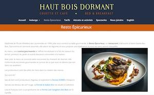 Restaurant Épicurieux - Estrie / Canton de l'est, Notre-Dame-des-Bois (M)
