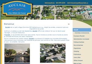 Municipalité d'Eau Claire - Bas-Saint-Laurent, Auclair