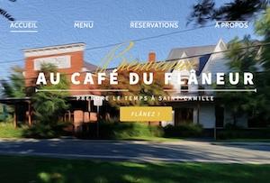 Café du Flaneur - Estrie / Canton de l'est, Saint-Camille