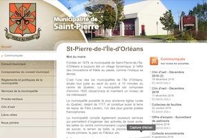 Municipalité de Saint-Pierre-de-l'Île-d'Orléans - Capitale-Nationale, Saint-Pierre-de-l'Île-d'Orléans