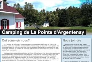 Camping de la Pointe d'Argenenay - Capitale-Nationale, (M) Saint-Francois-de-l'Île-d'Orléans
