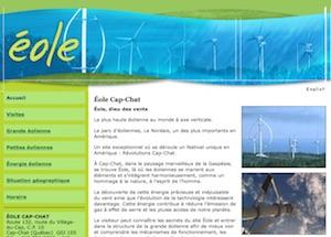 Visite guidée Éole - Gaspésie, Cap-Chat