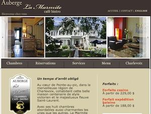 Auberge La Marmite - Charlevoix, La  Malbaie (Pointe-au-Pic)