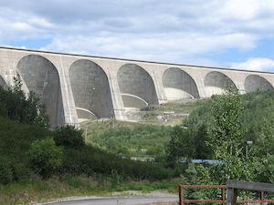 Barrage Daniel^Johnson et la Centrale Manic 5Manic 5 - Côte-Nord / Manicouagan, Manic-5