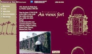 Restaurant Au Vieux Fort - Montérégie, La Prairie