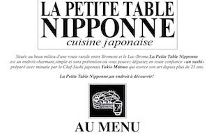 Restaurant La Petite Table Nipponne - Estrie / Canton de l'est, Fulford