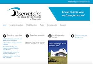 Observatoire du Cégep de Trois-Rivières - Mauricie, Champlain