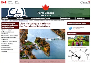 Lieu historique national du Canal-de-Saint-Ours (Parcs Canada) - Montérégie, Saint-Ours-sur-Richelieu