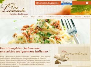 Restaurant Da Leonardo - Estrie / Canton de l'est, Sherbrooke (Rock Forest–Saint-Élie–Deauville)