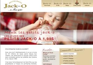 Restaurant Jack-O - Estrie / Canton de l'est, Sherbrooke (Rock Forest–Saint-Élie–Deauville)