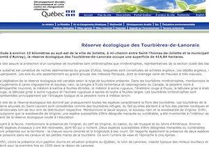 Réserve écologique des Tourbières-de-Lanoraie - Lanaudière, Lanoraie