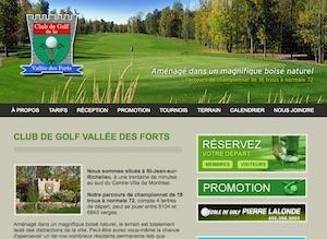 Club de Golf de la Vallée des Forts - Montérégie, Saint-Jean-sur-Richelieu