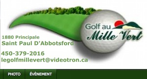 Club de Golf au Mille Vert - Montérégie, Saint-Paul-d'Abbotsford