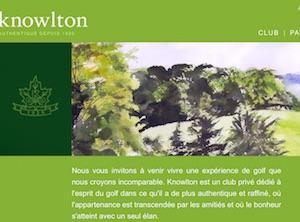 Club de Golf Knowlton - Estrie / Canton de l'est, Lac-Brome