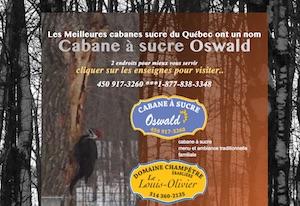 Cabane à Sucre Chez Oswald  (Érablière) - Lanaudière, Saint-Esprit