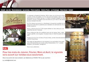 Vignoble le Nordet - Chaudière-Appalaches, Lévis (Lévis) (Desjardins)