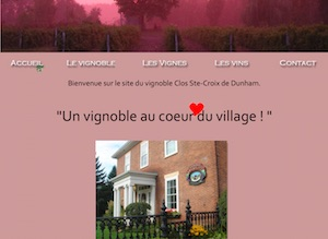 Vignoble Clos Ste-Croix Dunham - Estrie / Canton de l'est, Dunham