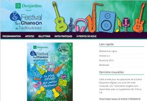 Festival de la chanson de Tadoussac - Côte-Nord / Manicouagan, Tadoussac