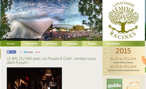 Festival Mémoire et Racines - Lanaudière, Joliette