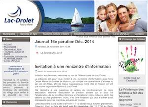 Municipalité de Lac-Drolet - Estrie / Canton de l'est, Lac-Drolet (M)