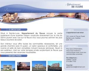Appartement du fleuve - Bas-Saint-Laurent, Sainte-Luce-sur-Mer