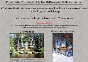 Pourvoirie Chasse et Pêche St-Damien de Brandon - Lanaudière, Saint-Damien-de-Brandon