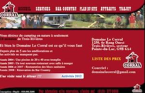 Camping Domaine Le Corral - Mauricie, Trois-Rivières (Pointe-du-Lac)