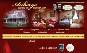 Gîte Auberge Comme au Premier Jour - Bas-Saint-Laurent, Saint-Pacôme