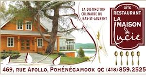 Restaurant Gîte La maison de Lucie - Bas-Saint-Laurent, Pohénégamook