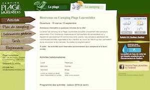 Camping Plage Laurentides - Capitale-Nationale, Ville de Québec (V)
