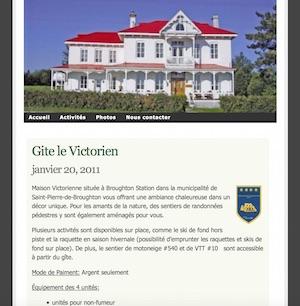 Gîte Le Victorien - Chaudière-Appalaches, East Broughton (Beauce)