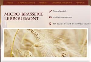 Microbrasserie Le Brouemont - Estrie / Canton de l'est, Bromont