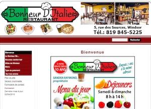 Restaurant Bonheur d'Italie - Estrie / Canton de l'est, Ville Windsor