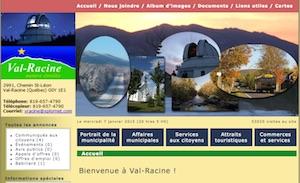 Municipalité de Val-Racine - Estrie / Canton de l'est, Val-Racine