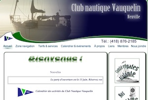 Club nautique Vauquelin inc. - Capitale-Nationale, Neuville