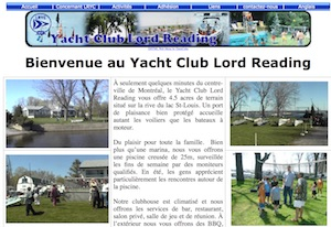 Lord Reading Yacht Club - Montréal, Beaconsfield