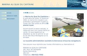 Marina au Quai du Capitaine - Laurentides, Pointe-Calumet