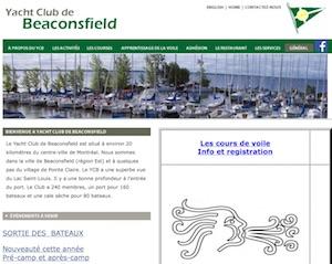Yacht club de Beaconsfield - Montréal, Beaconsfield
