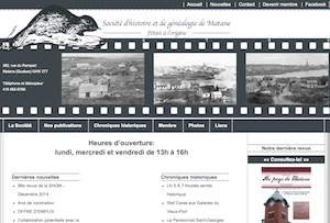 Société d'Histoire et de Généalogie de Matane - Gaspésie, Matane