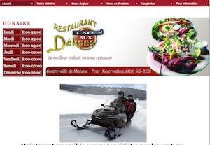 Restaurant Café aux Délices - Gaspésie, Matane